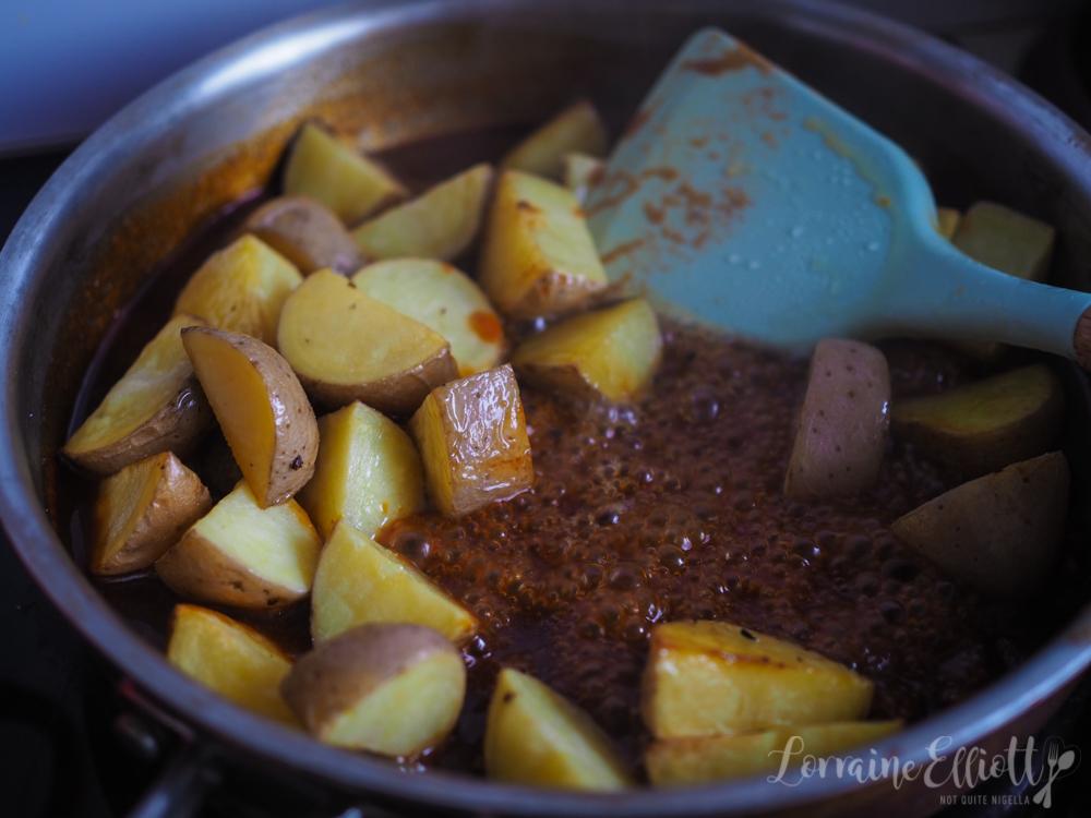 Sticky Korean Potatoes