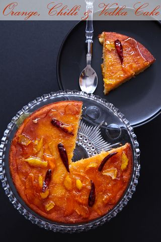 Sticky Orange, Chilli & Vodka Cake - Slightly Mad but Delicious!