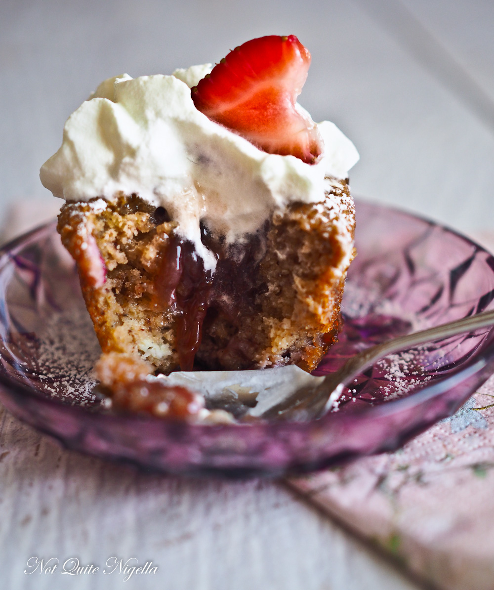Strawberry and Cream Friands