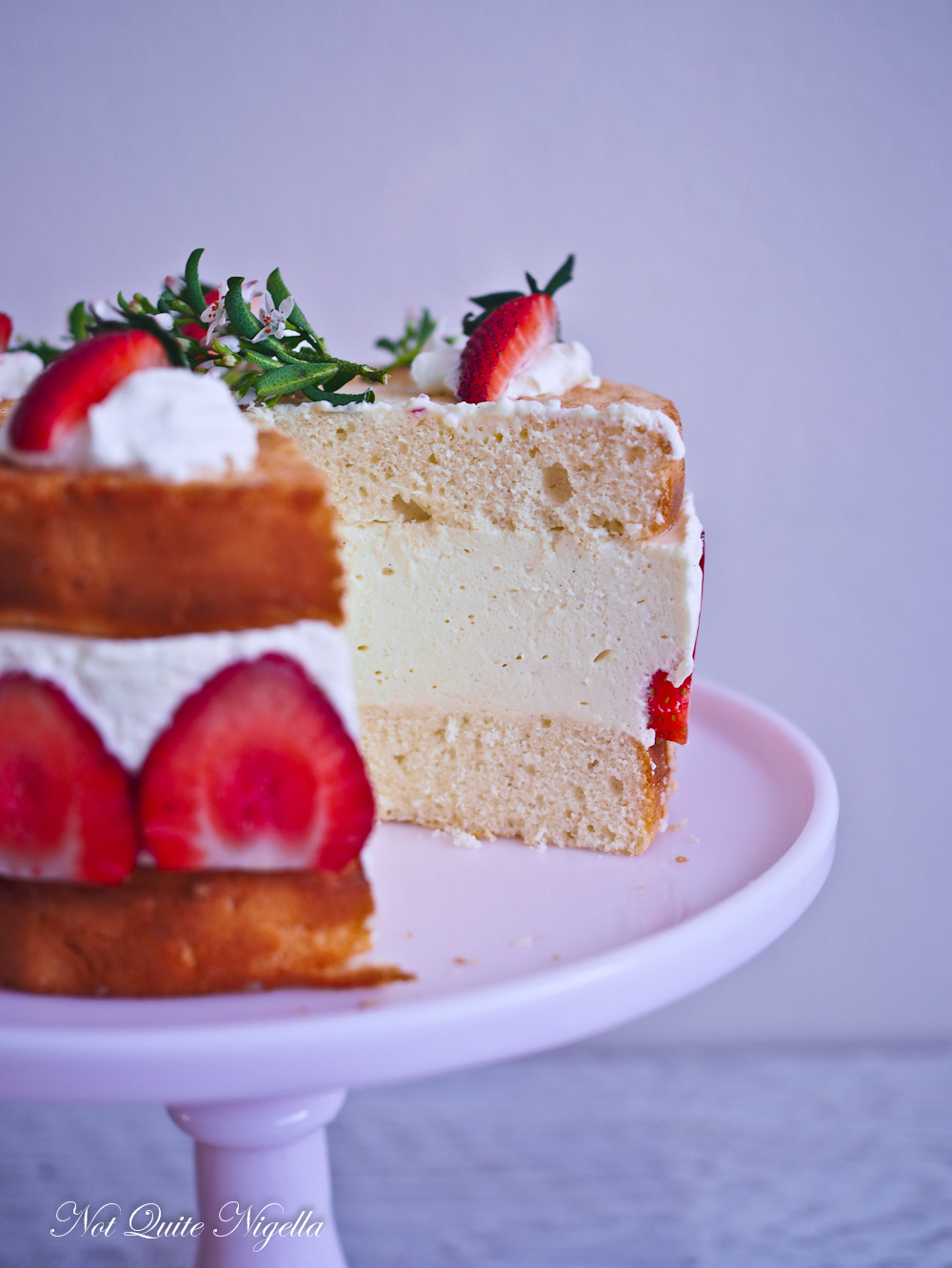 Strawberry Yogurt Cheesecake
