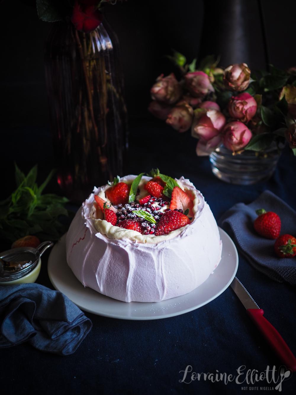 Strawberry Cheesecake Pavlova