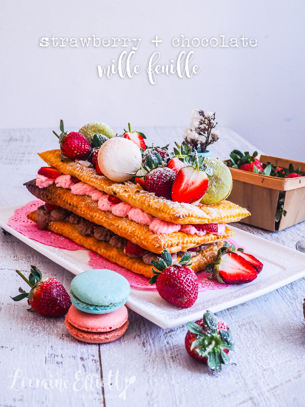 Strawberry Chocolate Mille Feuille