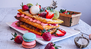 Spring Time Strawberry Chocolate Mille Feuille