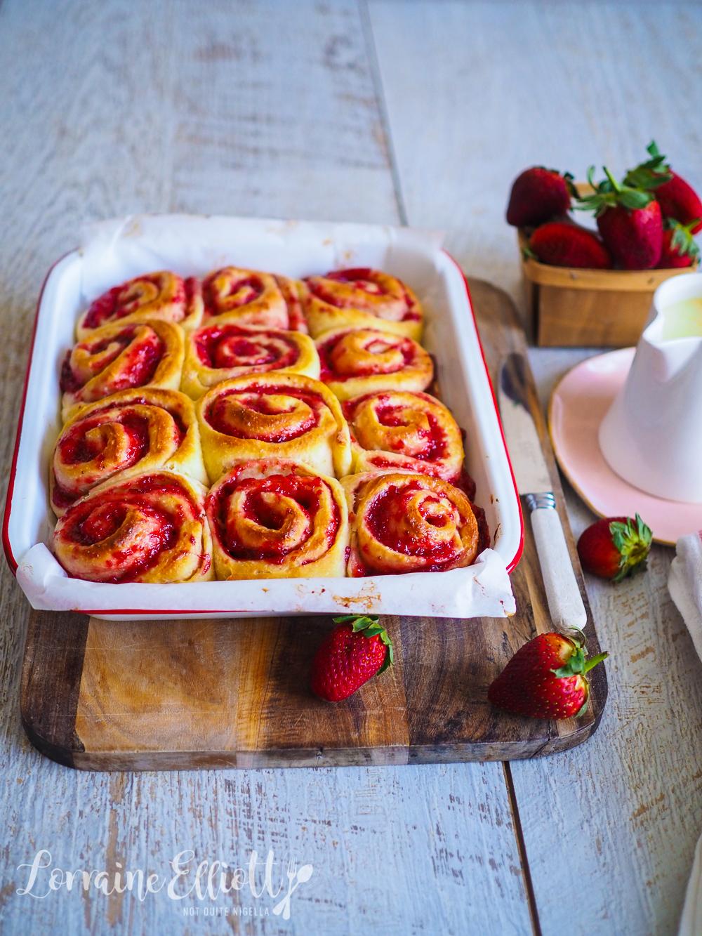 Strawberry Cinnamon Buns