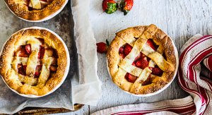 Berry Fruity Strawberry Orange Sherbet Lattice Pies