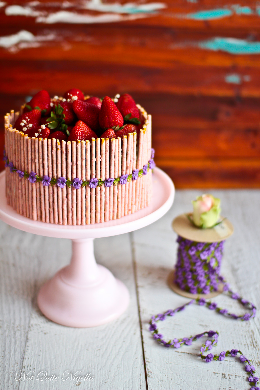 Strawberry Pocky Cake Not Quite Nigella