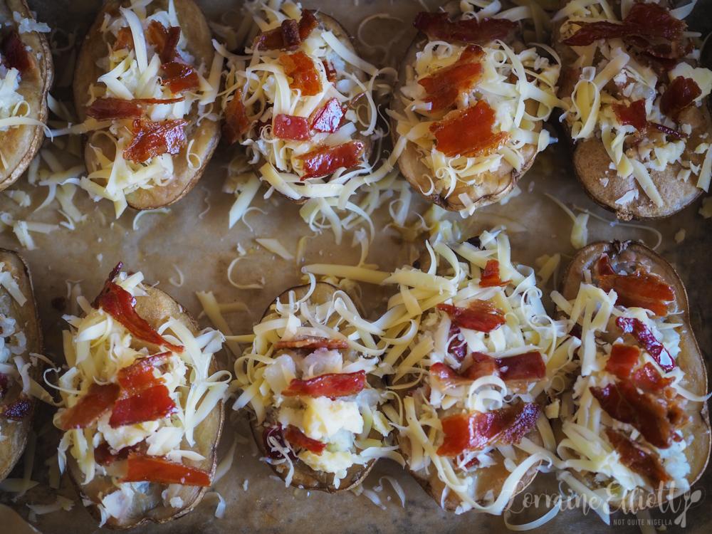 Cheese & Bacon Stuffed Baked Potatoes