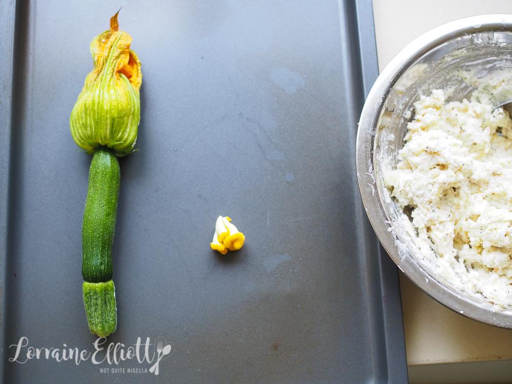 Cacio e Pepe Stuffed Zucchini Flowers With Honey