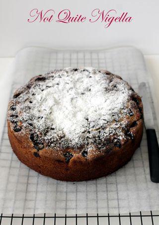 Sunken Sour Cherry Cake