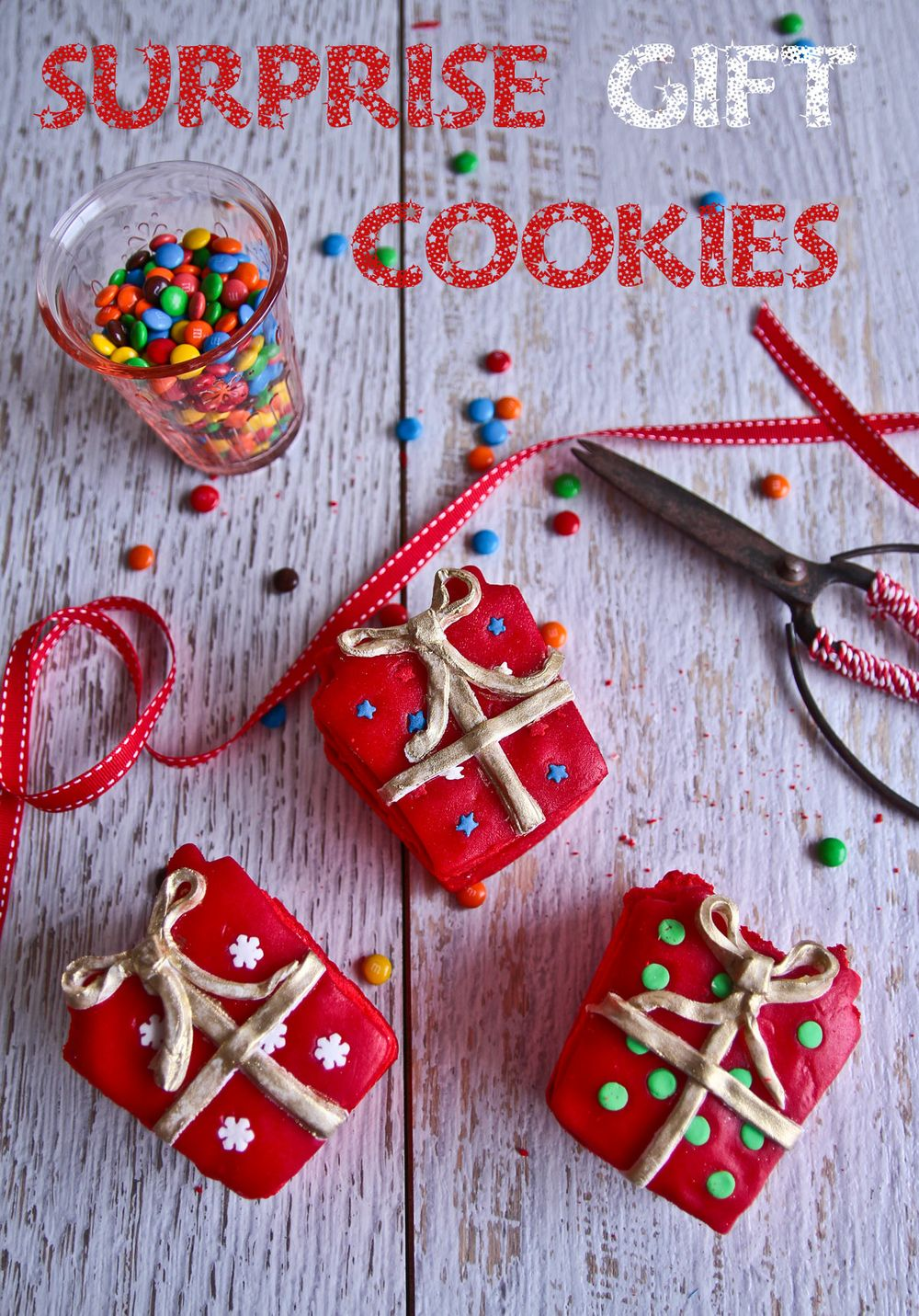 surprise gift cookies - Candy Christmas Gifts