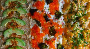 DELICIOUS Trio Sushi Bake (Kani, Volcano Prawns & Spicy Tuna)!