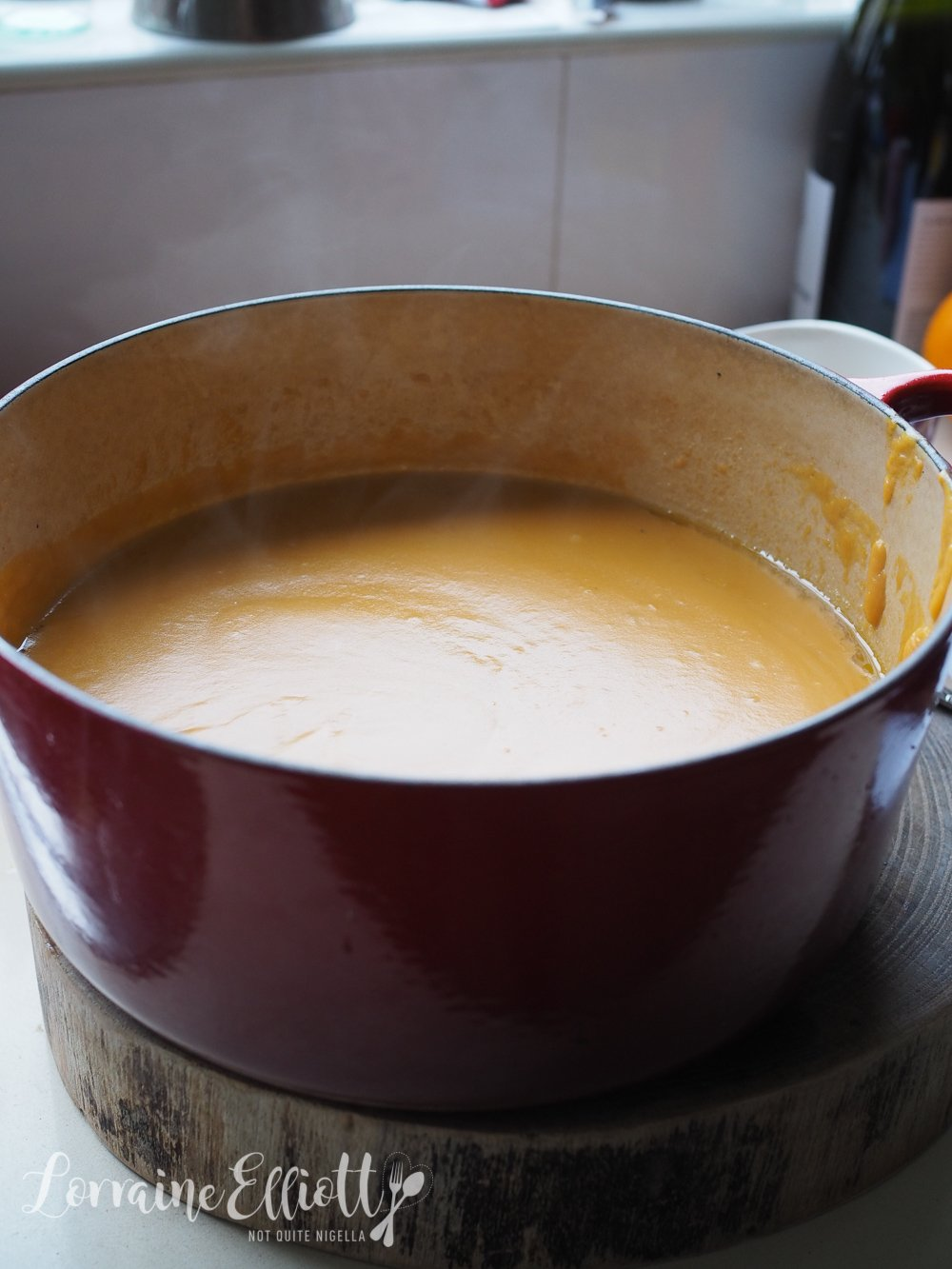 Sweet Potato & Blue Cheese Soup