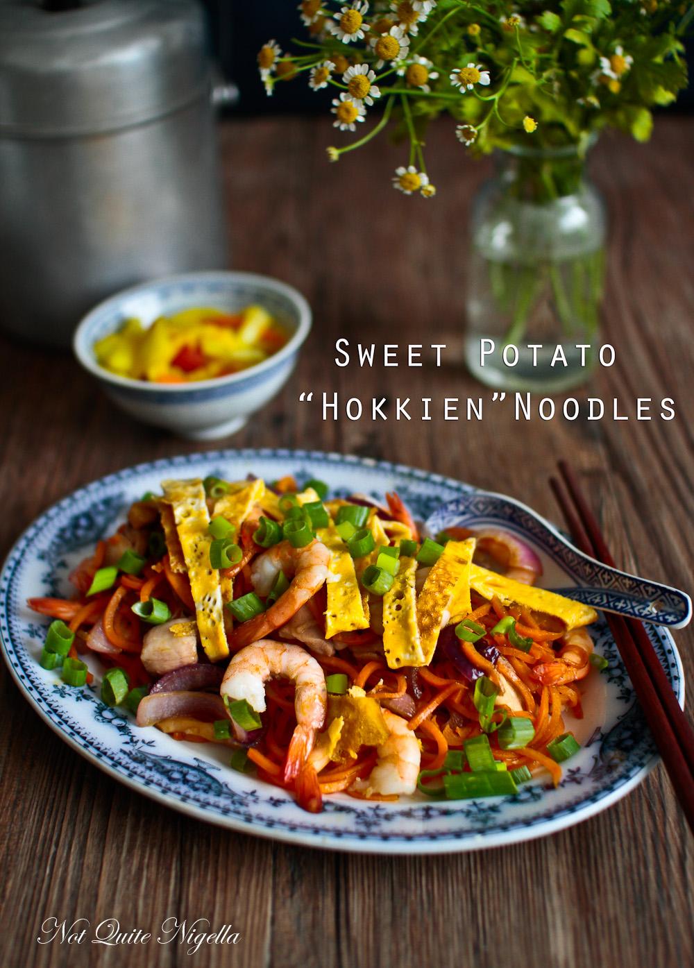 Sweet Potato Hokkien Noodles