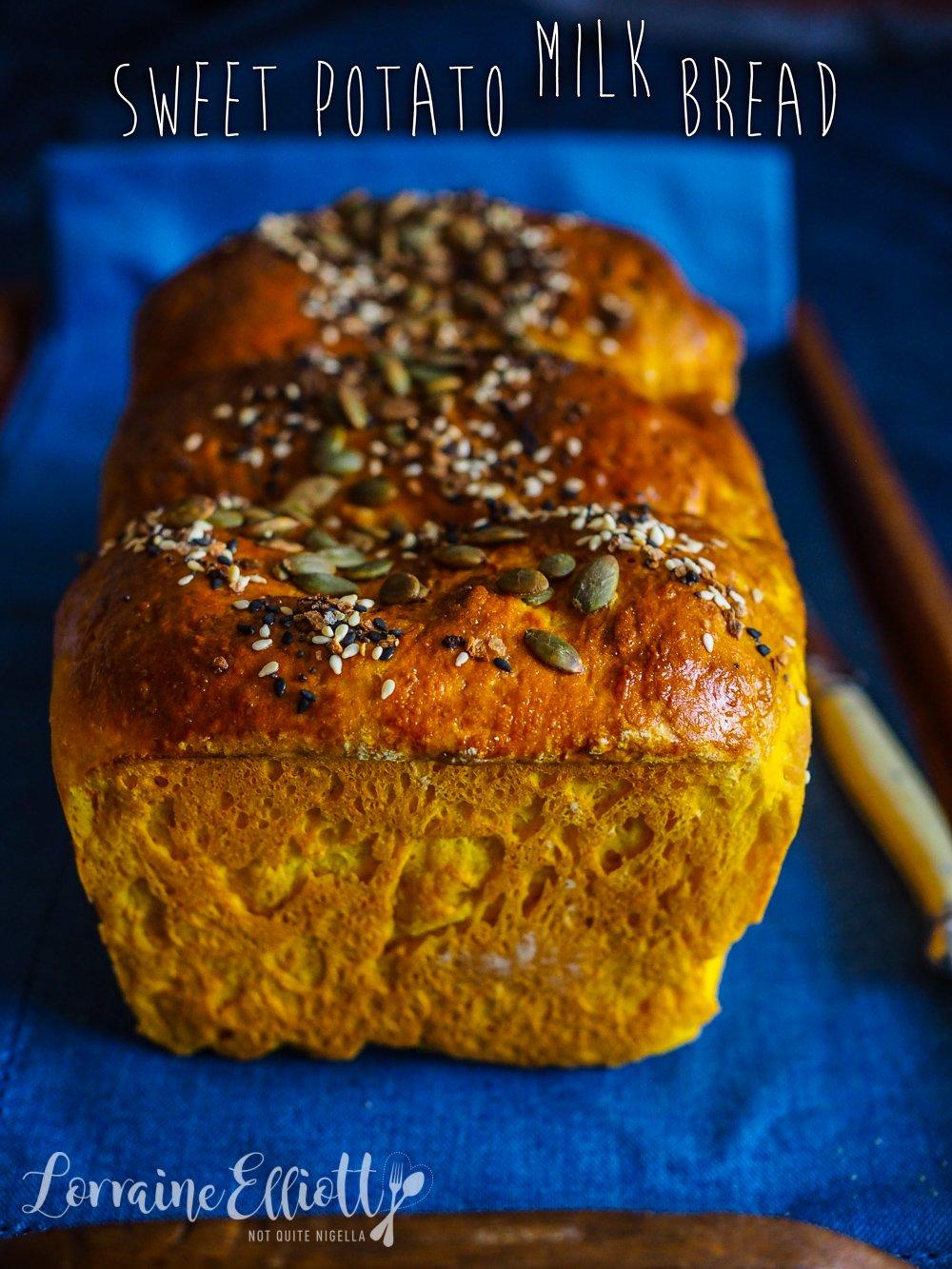 Sweet Potato Milk Bread Loaf