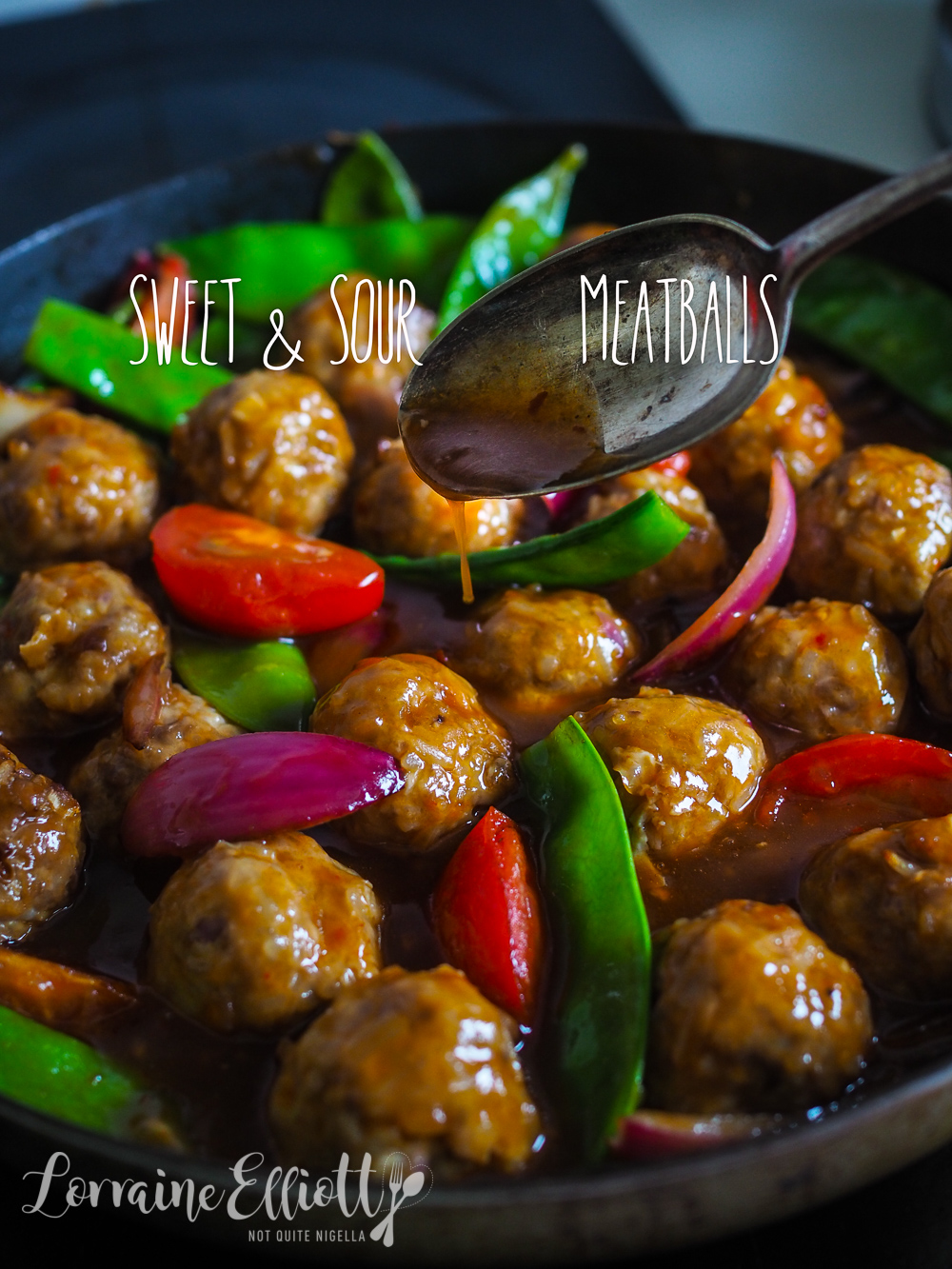 Sweet & Sour Pork Meatballs With Ginger Rice