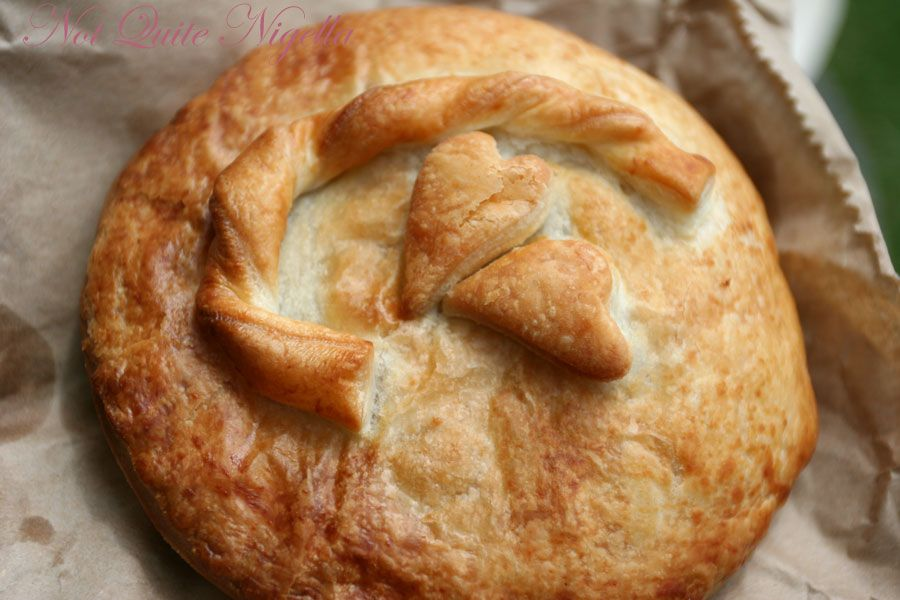 Sylvia and Fran's The Upper Crust Pies chicken, brie & avocado pie