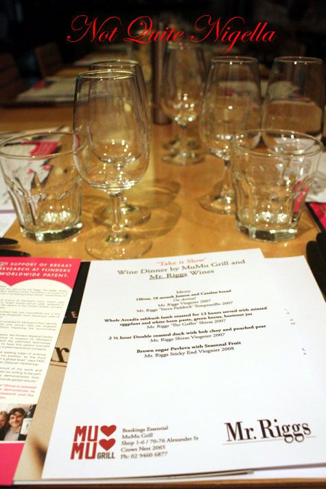 Take It Slow Wine Dinner at Mumu Grill, Crows Nest