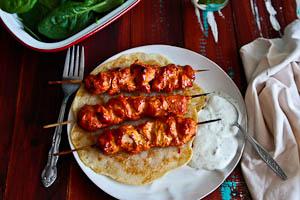 Healthy Tandoori Chicken & 3 Ingredient Paleo Naan