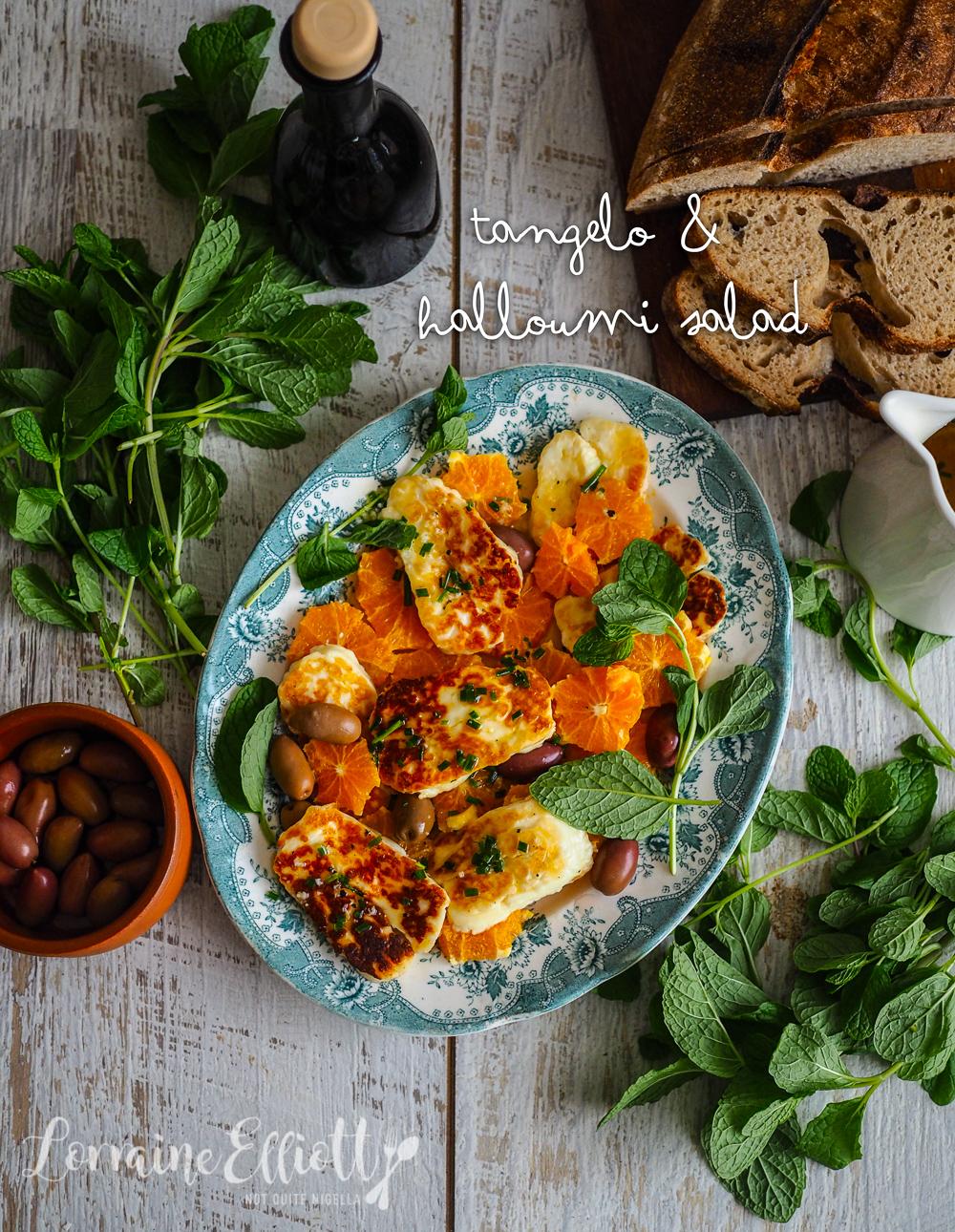 Tangelo, Halloumi & Olive Winter Salad