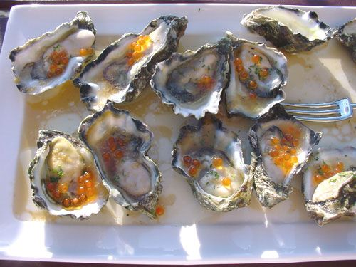 Tetsuyas Oysters with Rice Wine Vinaigrette
