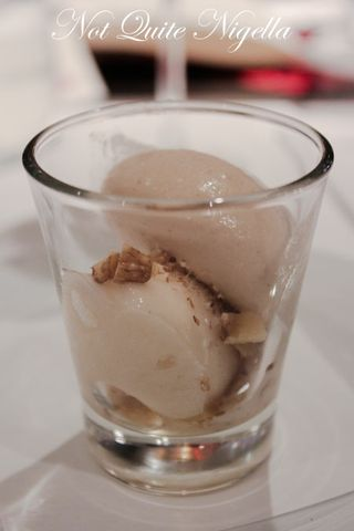 Browned Butter Ice Cream and Pear Sorbet, Walnut