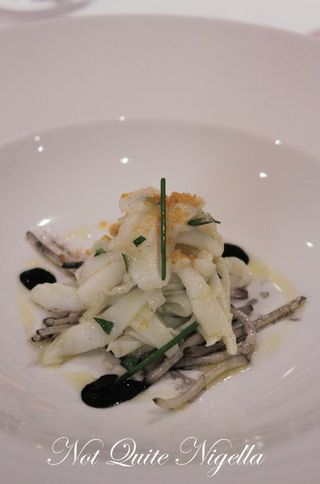 Cuttlefish with Bean Sprouts, Ink & Botarga