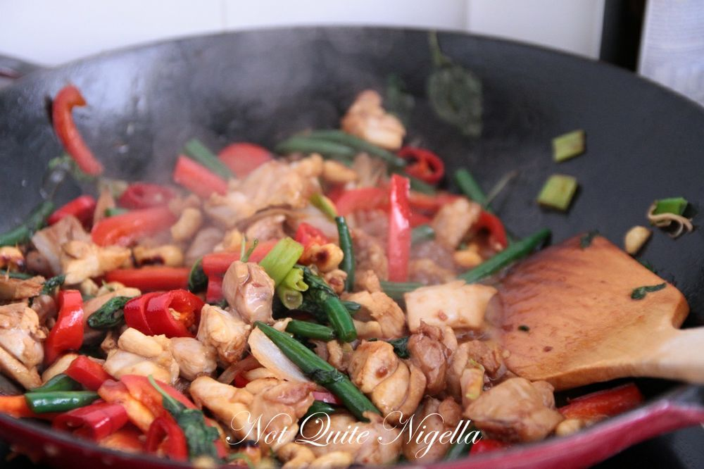 chicken stir fry coconut rice