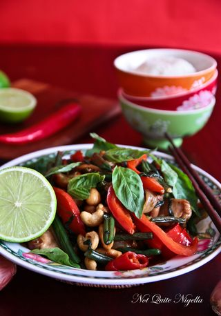 Thai Basil, Chicken & Cashew Stir Fry With Coconut Rice (& a little ...