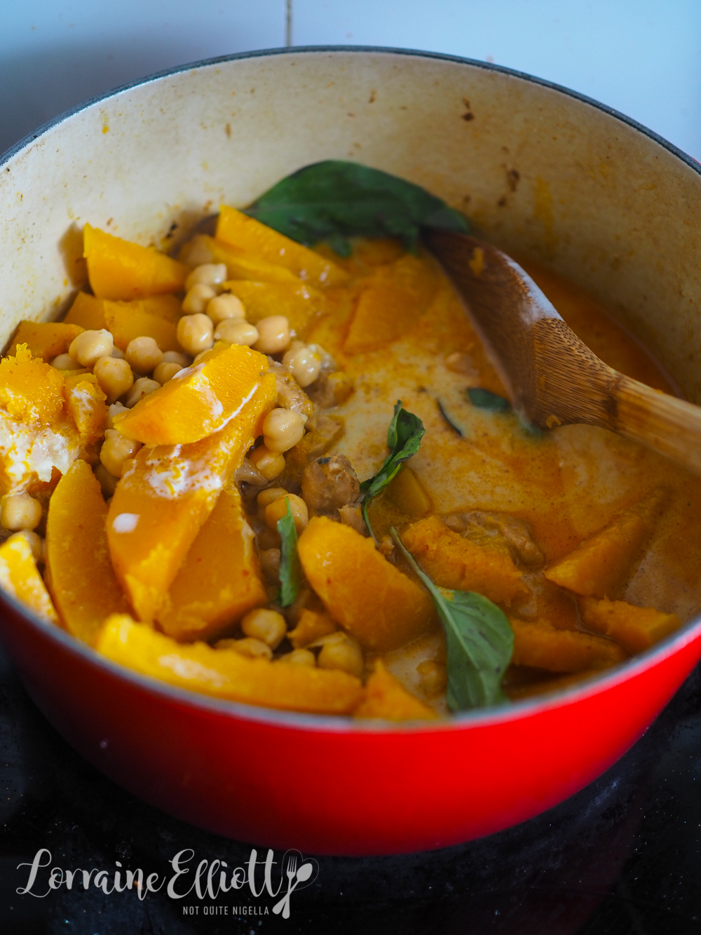 Easy Thai Red Curry With Pumpkin & Chickpea