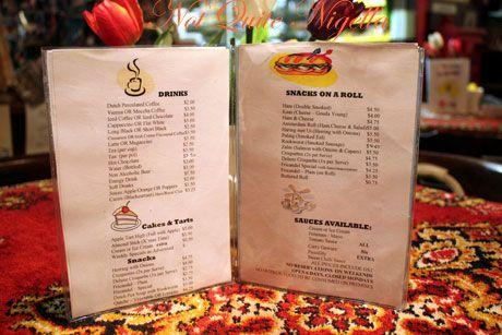 dutch shop menu