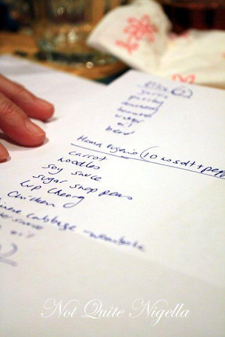 forensic dinner list