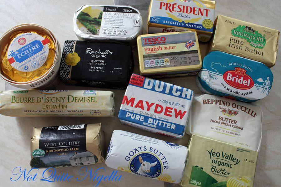 Blind butter taste test