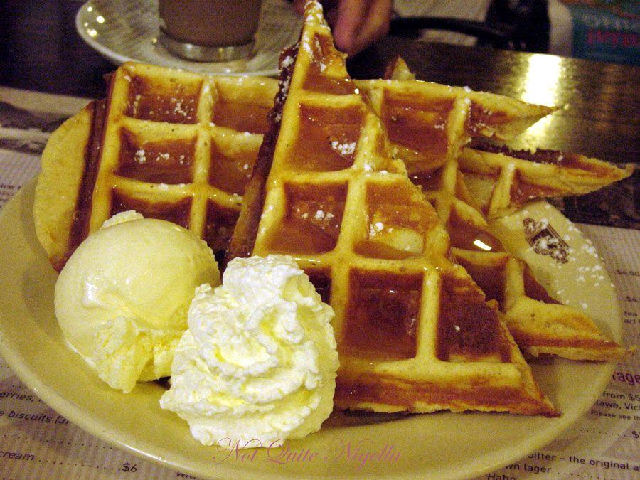 The Paragon Cafe at Katoomba, Blue Mountains Caramel waffles