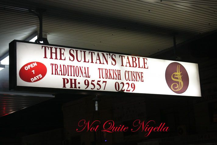 The Sultan's Table, Enmore