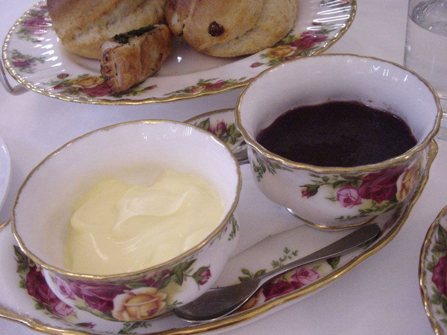 The Tea Room, Queen Victoria Building Sydney Jam and cream for scones