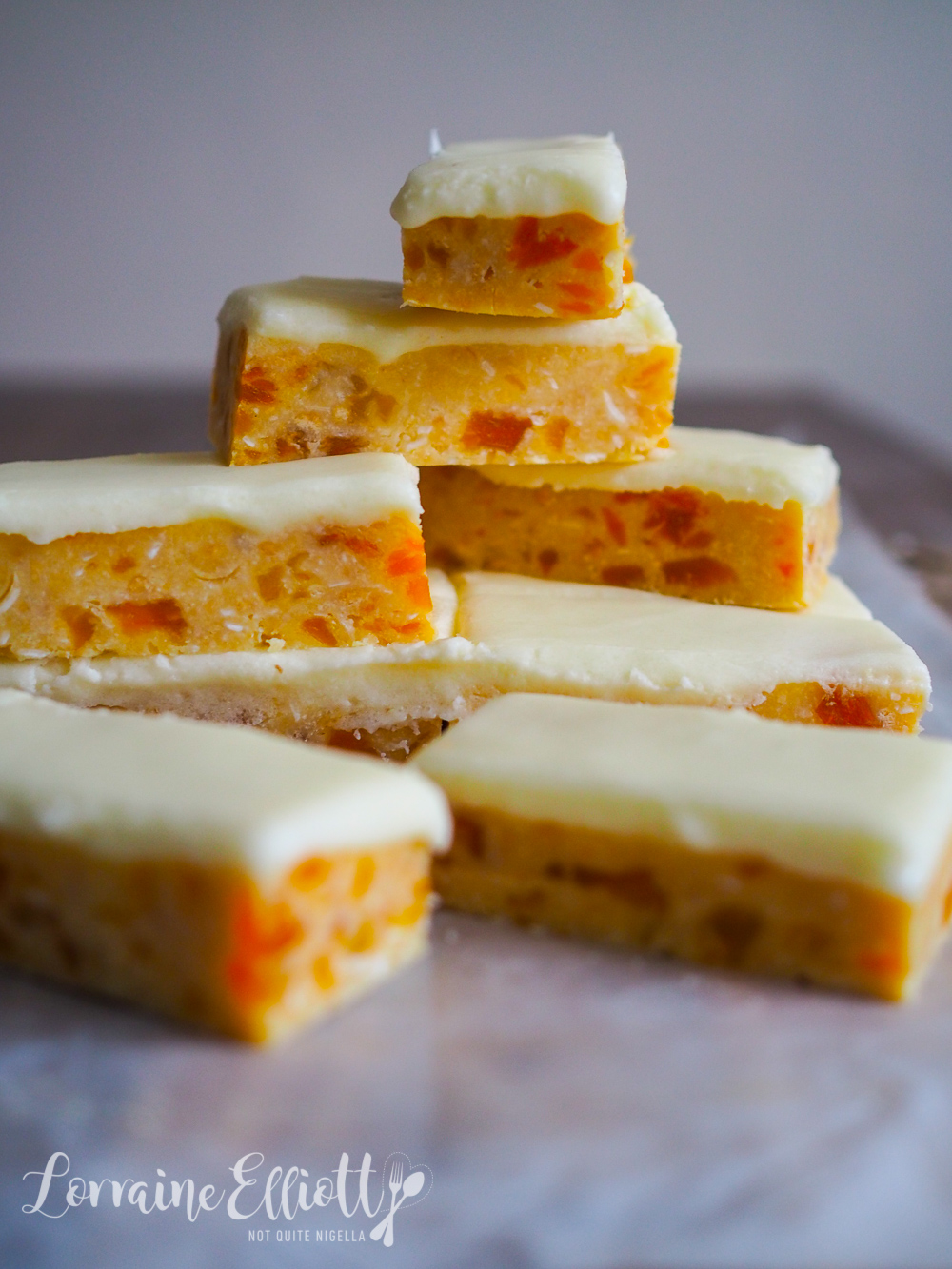Thermomix Apricot Slice No Bake
