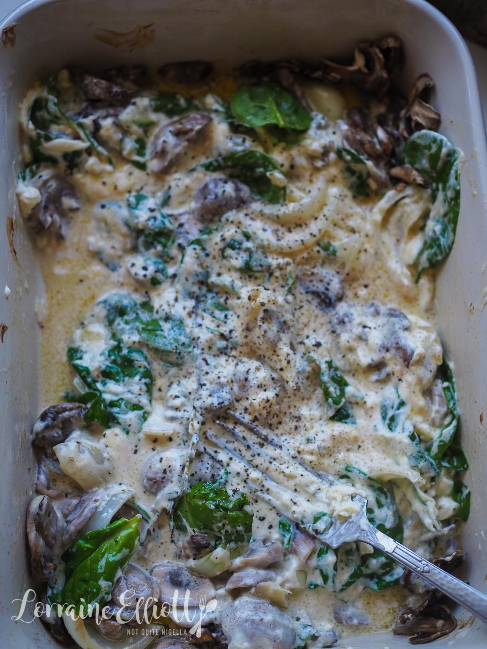 Tiktok Baked Mushroom Alfredo Pasta