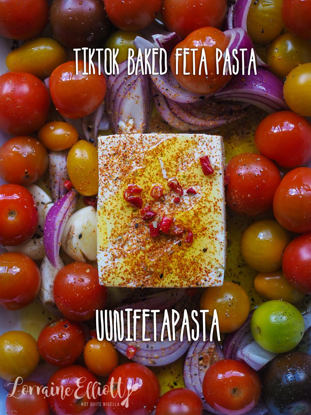 TikTok Baked Feta Pasta Recipe Uunifetapasta