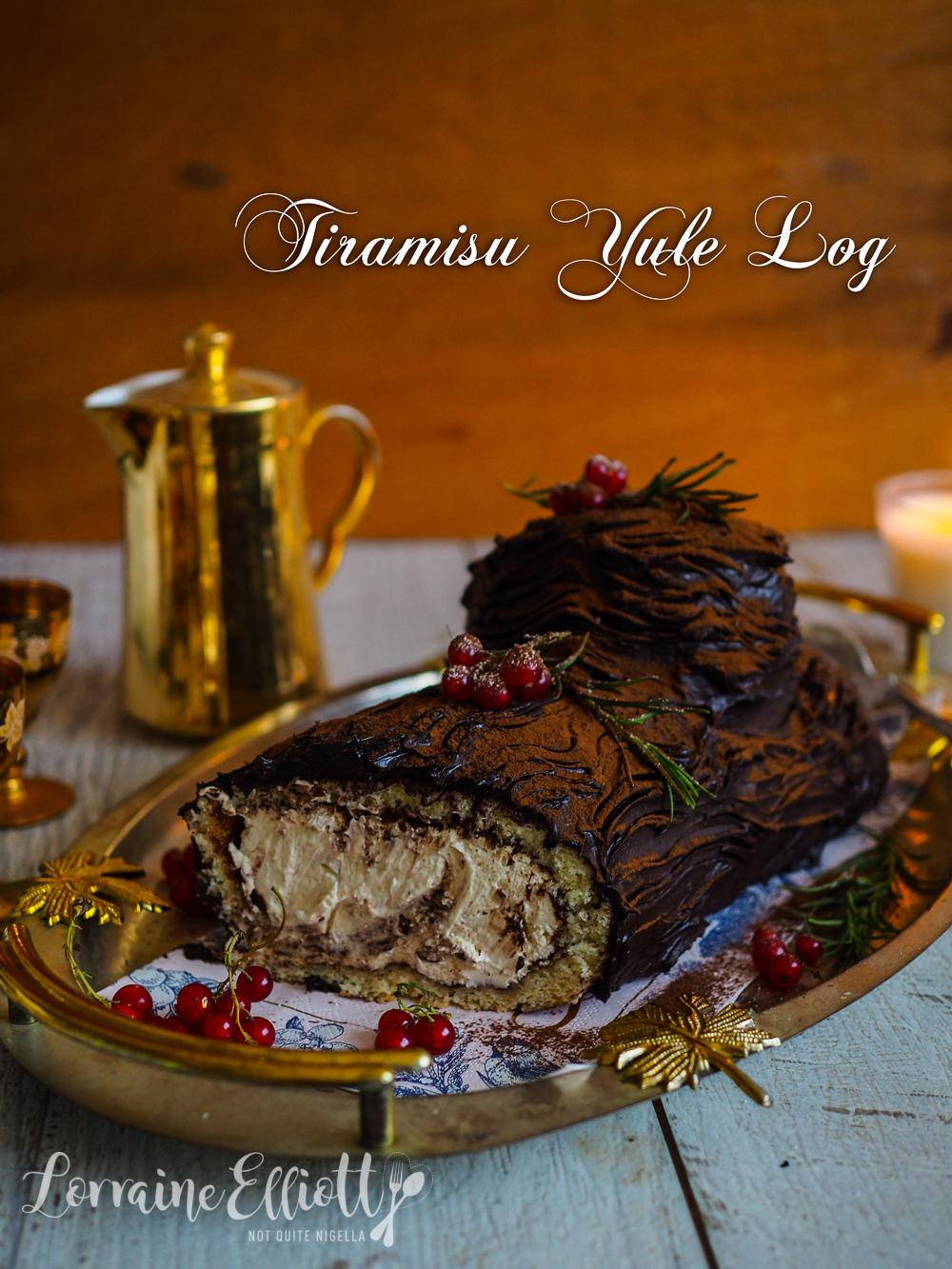 Tiramisu Yule Log