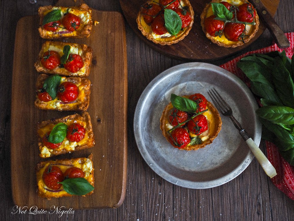 Tomato Cheese Basil Tart