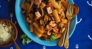 LUSCIOUS Pasta alla Eoliana or Sicilian Fresh Tuna Pasta
