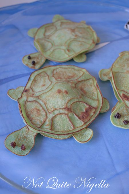 Turtle Shaped Pancakes