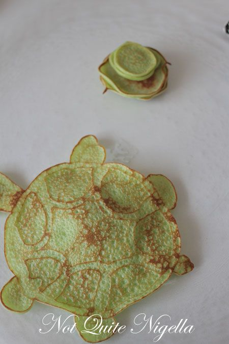 turtle pancake recipe, fun pancakes