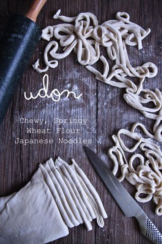 Udon noodles from scratch