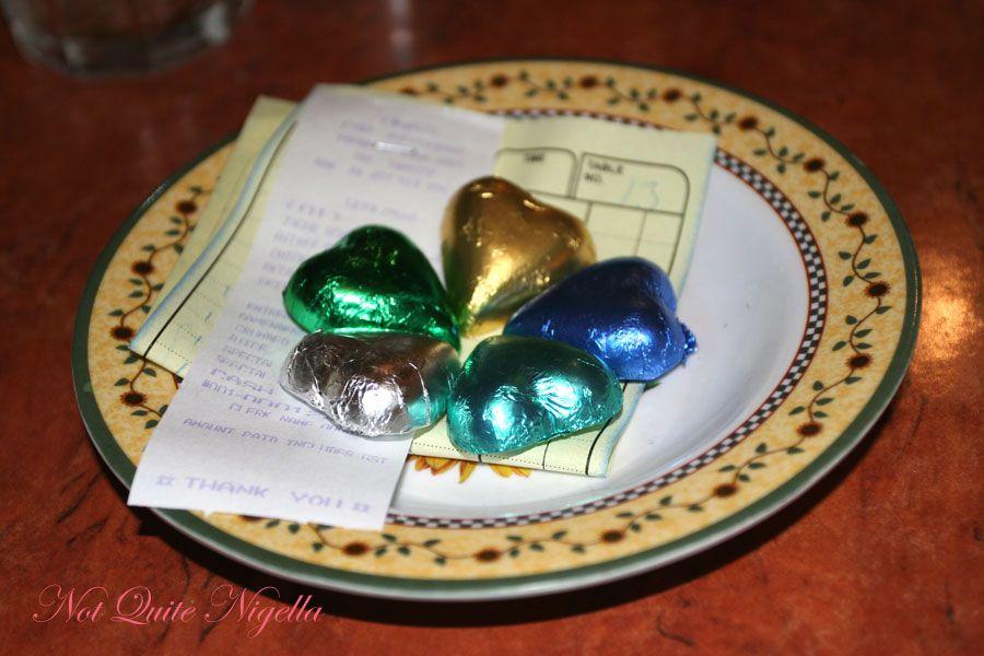 Una's at Double Bay Chocolate hearts