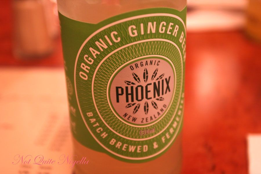 Una's at Double Bay Organic Ginger Beer