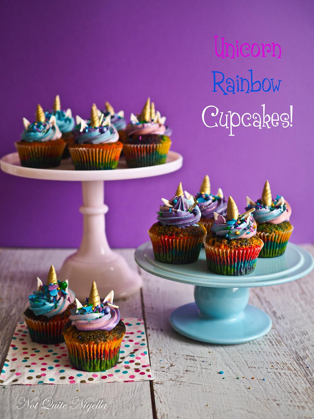 Somewhere Over The Rainbow Unicorn Cupcakes