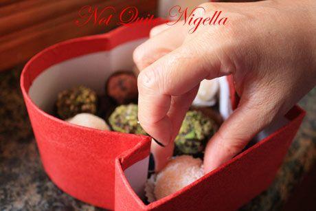 placing truffles