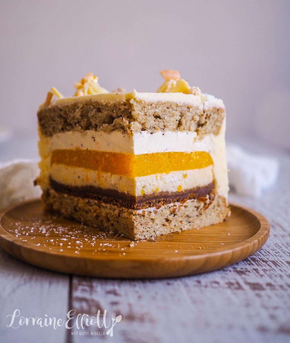 Mango, Vanilla & Coconut Layer Cake With Cheesecake Buttercream