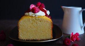 Pound Cake Town! Vanilla Pound Cake With Raspberries and Cream